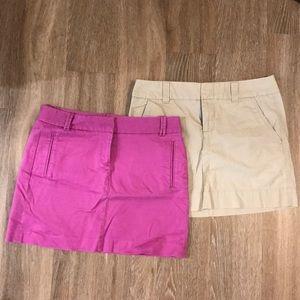 Jcrew & Gap chino skirts size 6